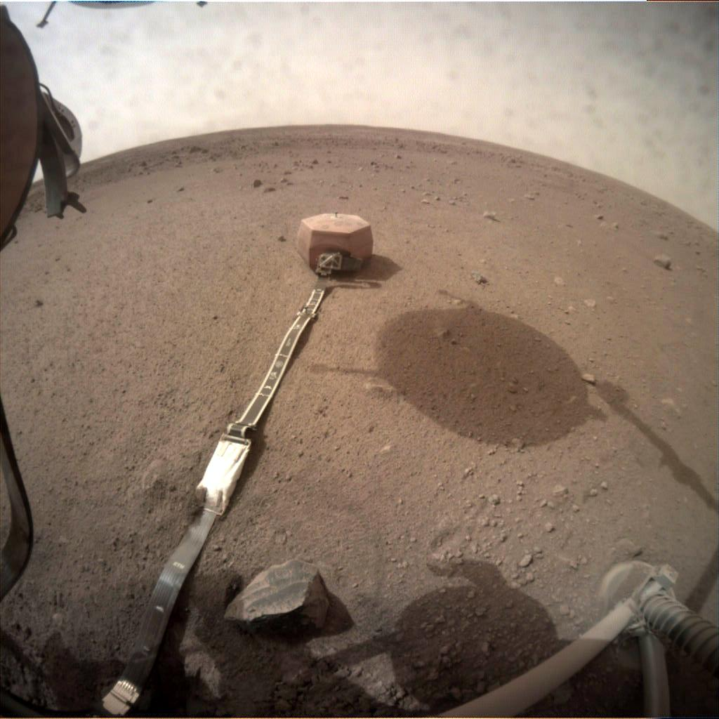 Nasa's Mars lander InSight acquired this image using its Instrument Context Camera on Sol 66