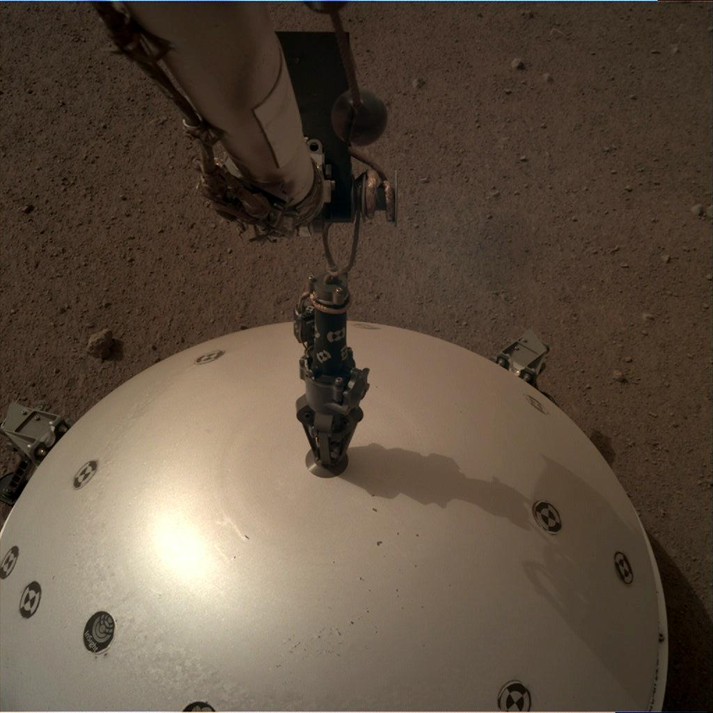 Nasa's Mars lander InSight acquired this image using its Instrument Deployment Camera on Sol 66