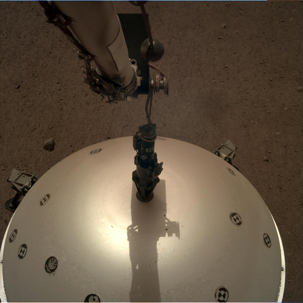 Nasa's Mars lander InSight acquired this image using its Instrument Deployment Camera on Sol 67