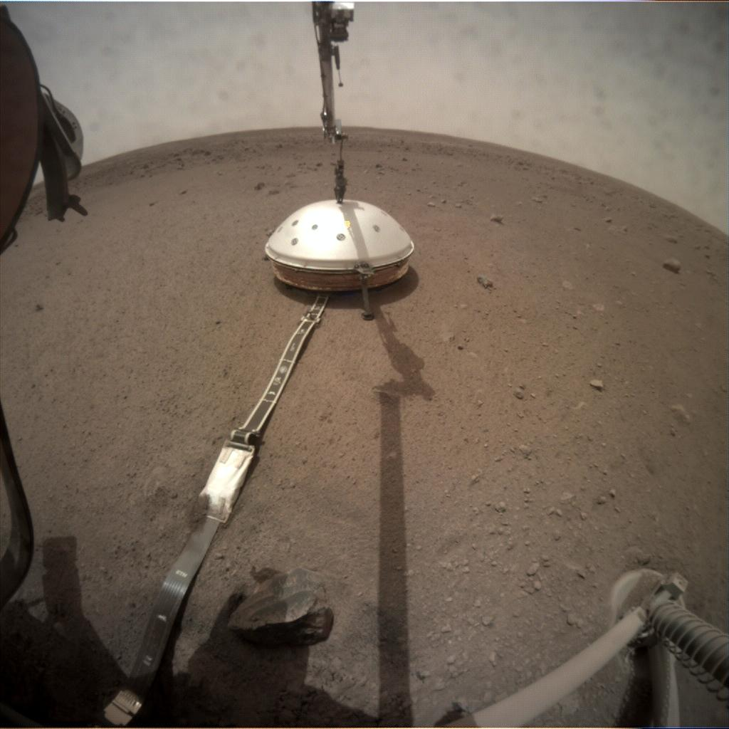 Nasa's Mars lander InSight acquired this image using its Instrument Context Camera on Sol 68