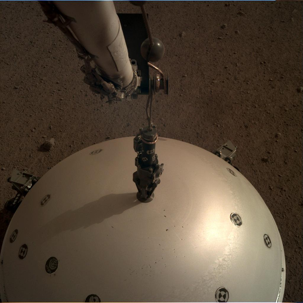Nasa's Mars lander InSight acquired this image using its Instrument Deployment Camera on Sol 68
