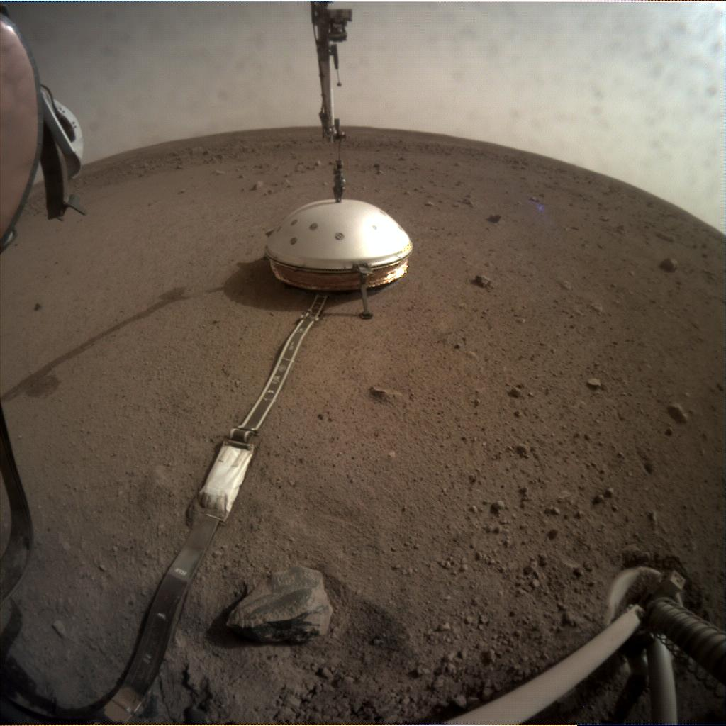 Nasa's Mars lander InSight acquired this image using its Instrument Context Camera on Sol 69