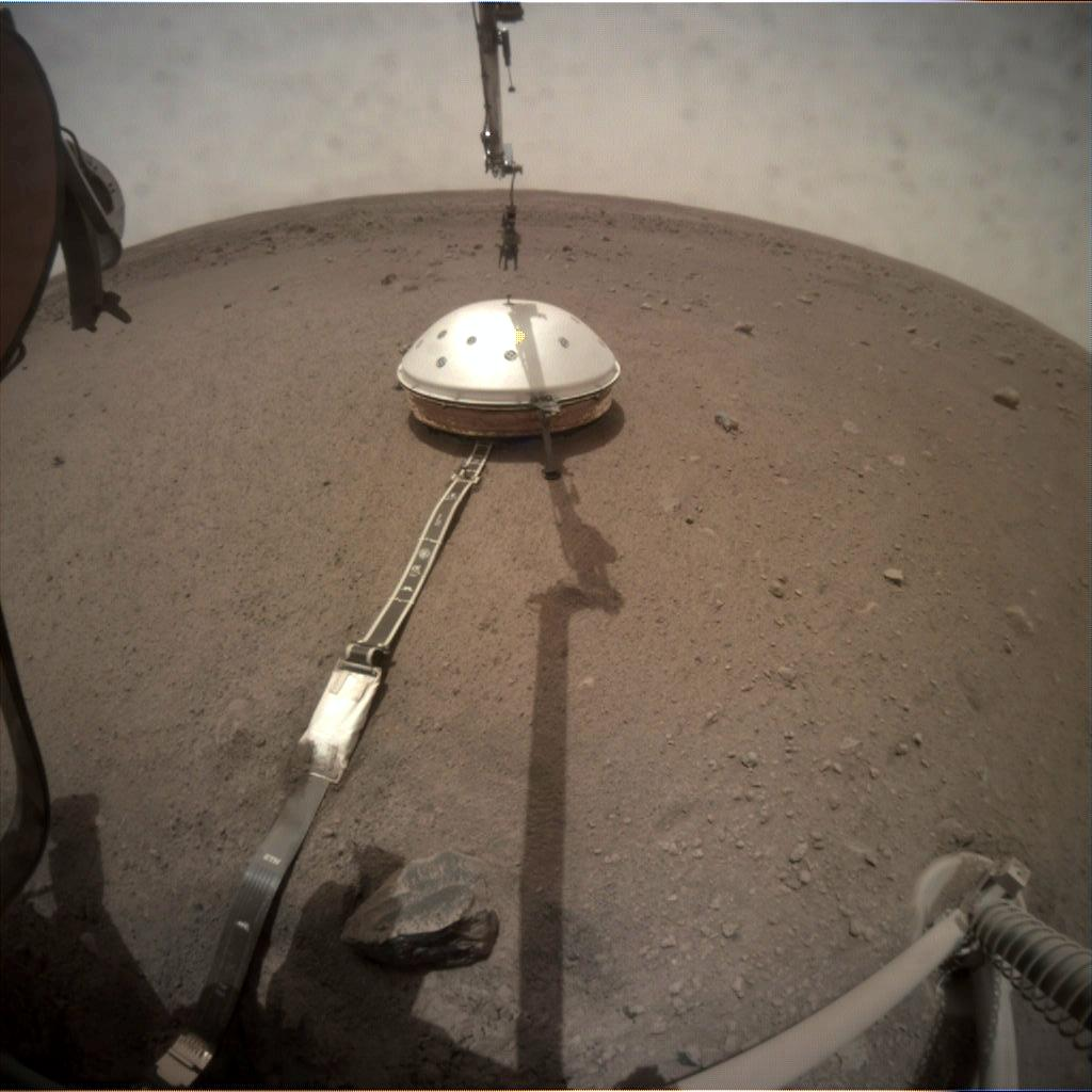 Nasa's Mars lander InSight acquired this image using its Instrument Context Camera on Sol 70
