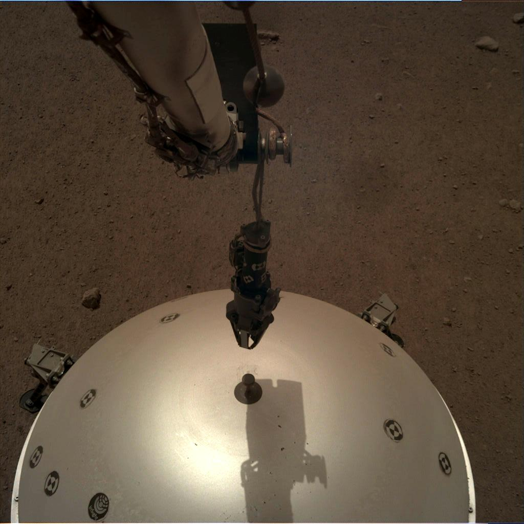 Nasa's Mars lander InSight acquired this image using its Instrument Deployment Camera on Sol 70