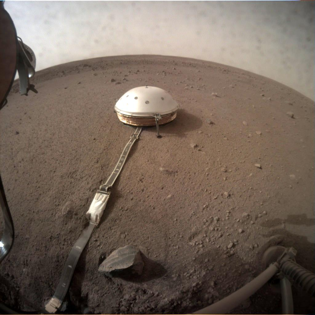 Nasa's Mars lander InSight acquired this image using its Instrument Context Camera on Sol 71