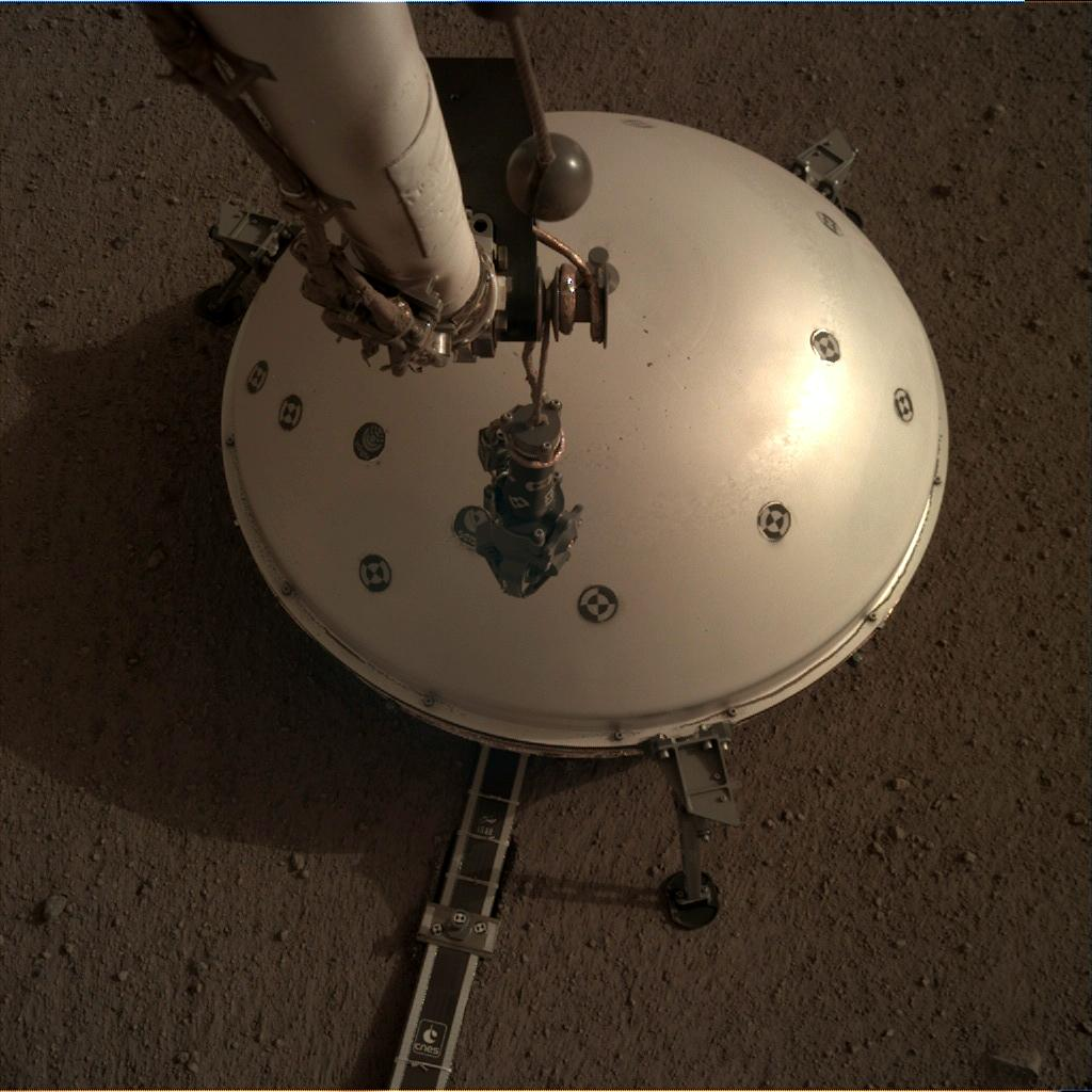 Nasa's Mars lander InSight acquired this image using its Instrument Deployment Camera on Sol 71
