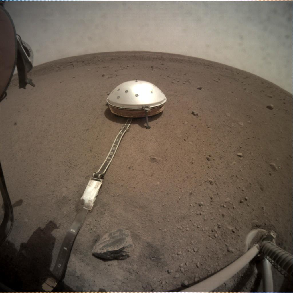 Nasa's Mars lander InSight acquired this image using its Instrument Context Camera on Sol 73