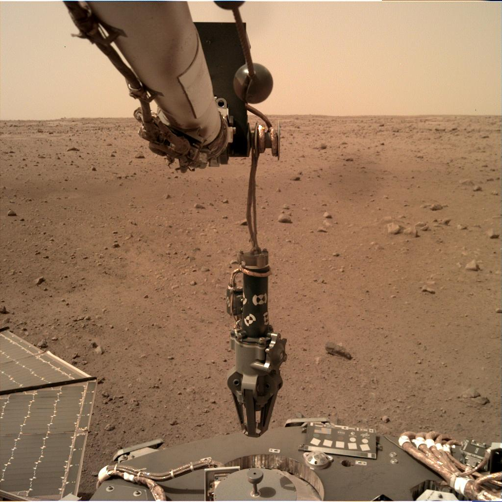Nasa's Mars lander InSight acquired this image using its Instrument Deployment Camera on Sol 73