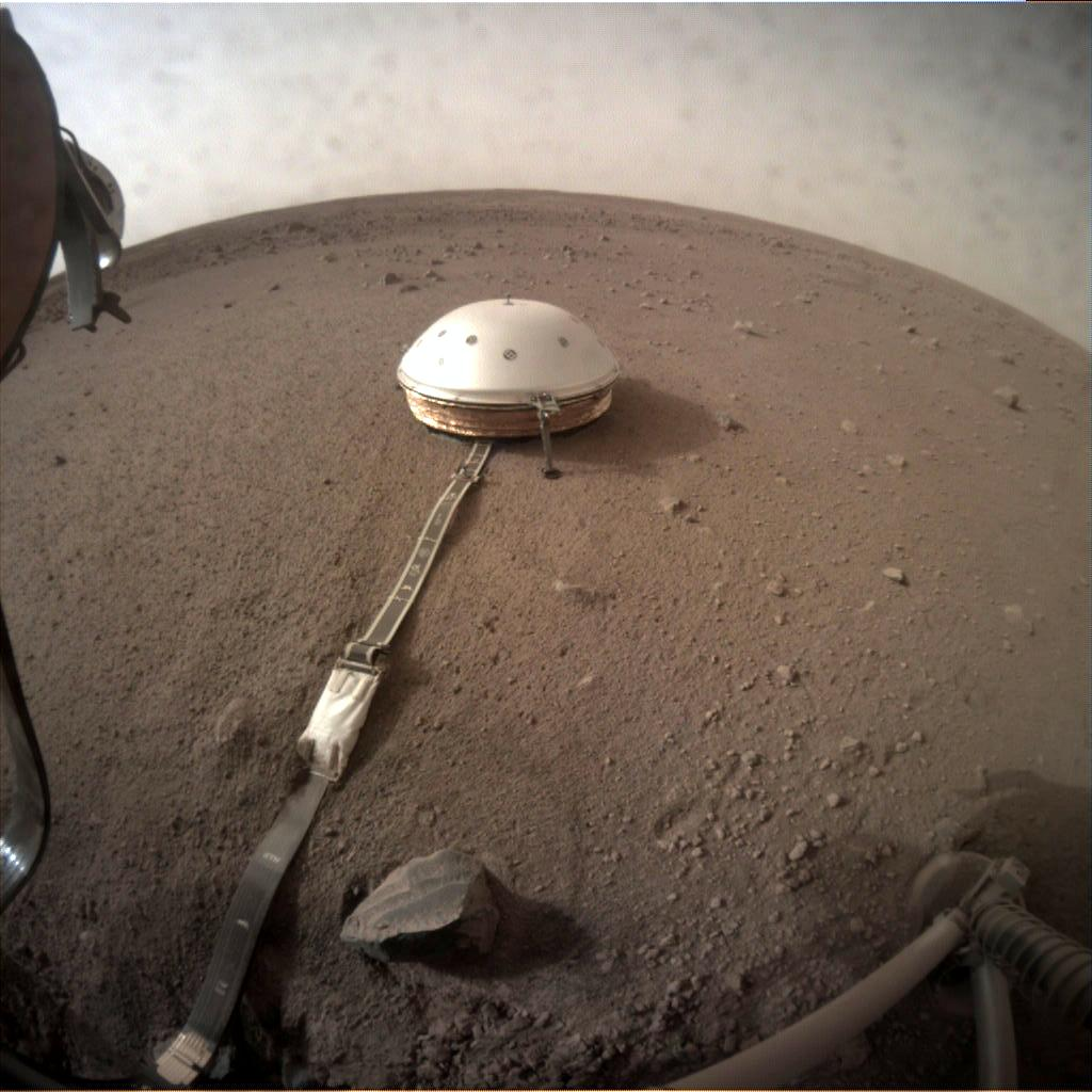 Nasa's Mars lander InSight acquired this image using its Instrument Context Camera on Sol 74