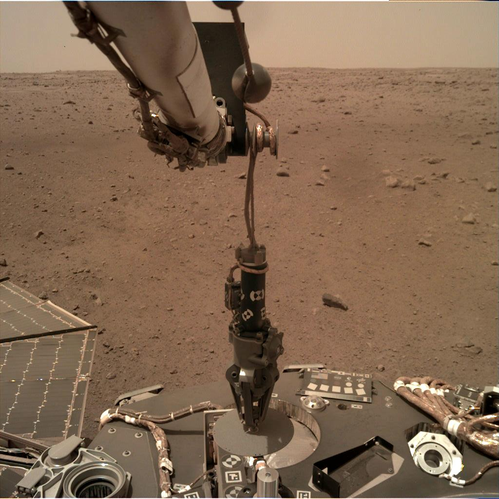 Nasa's Mars lander InSight acquired this image using its Instrument Deployment Camera on Sol 74