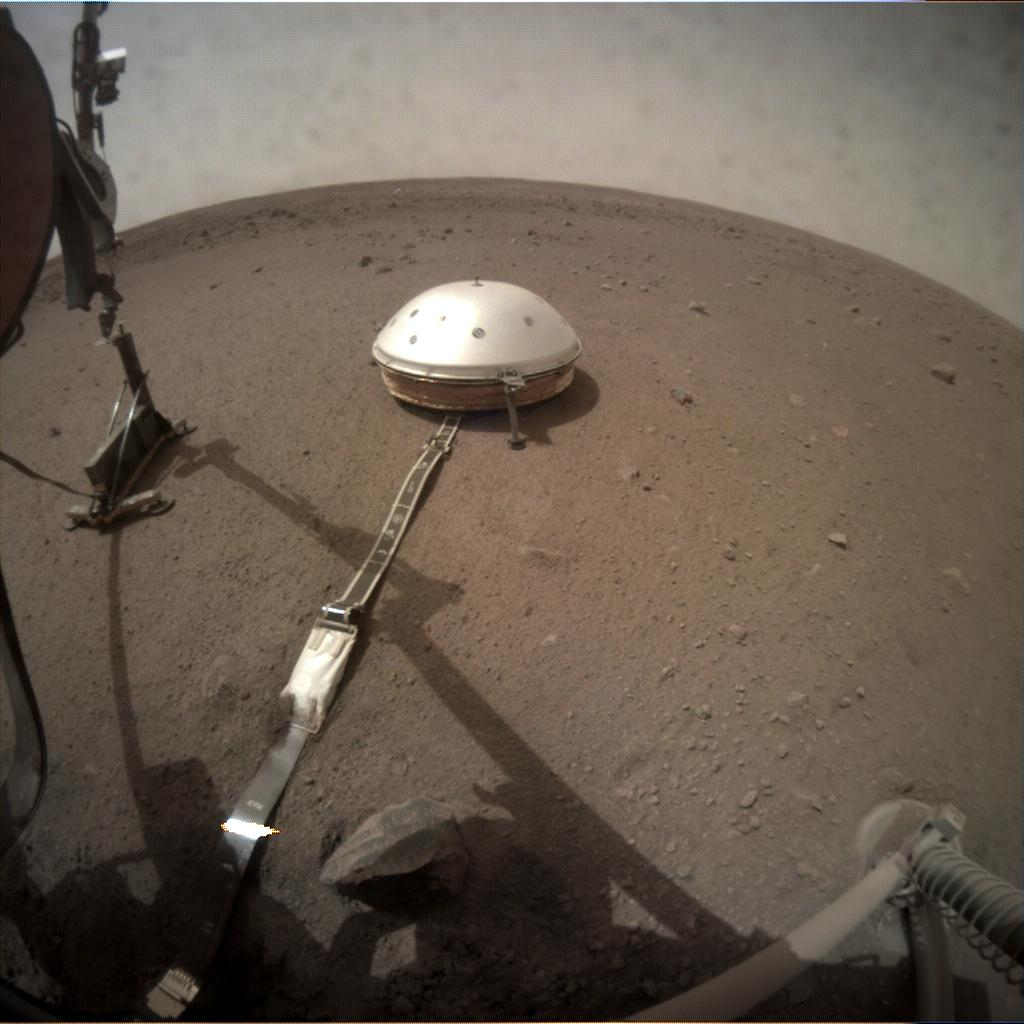 Nasa's Mars lander InSight acquired this image using its Instrument Context Camera on Sol 77