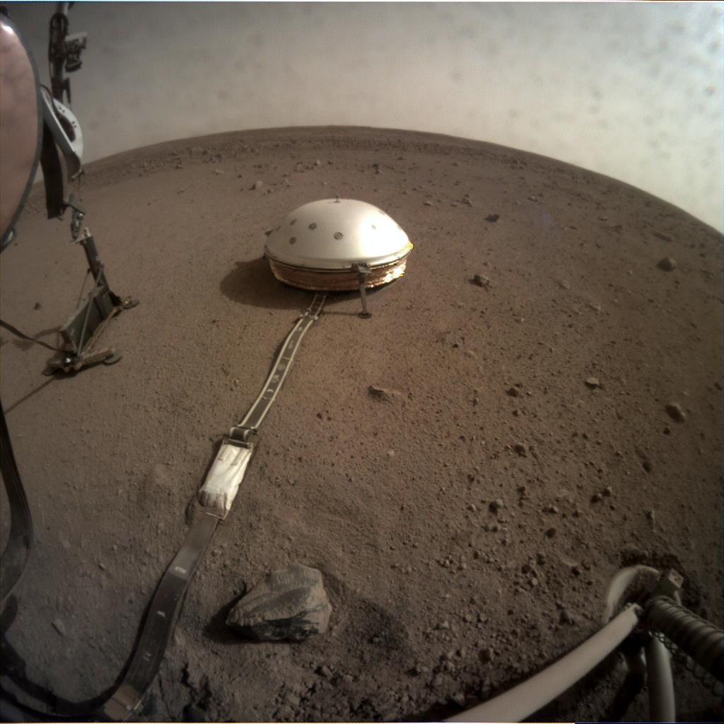 Nasa's Mars lander InSight acquired this image using its Instrument Context Camera on Sol 79