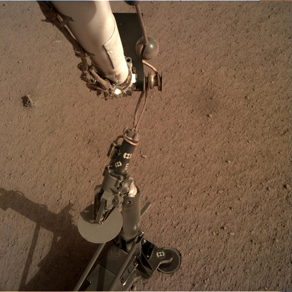 Nasa's Mars lander InSight acquired this image using its Instrument Deployment Camera on Sol 79