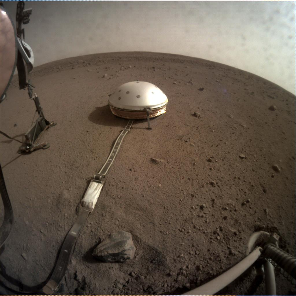 Nasa's Mars lander InSight acquired this image using its Instrument Context Camera on Sol 81