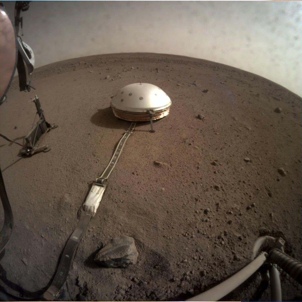 Nasa's Mars lander InSight acquired this image using its Instrument Context Camera on Sol 83