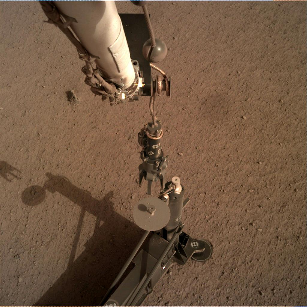 Nasa's Mars lander InSight acquired this image using its Instrument Deployment Camera on Sol 83
