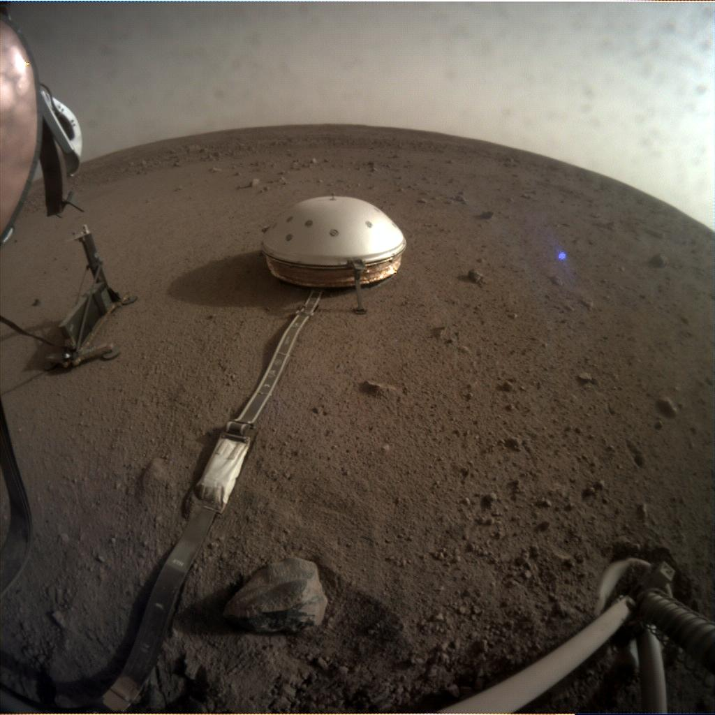Nasa's Mars lander InSight acquired this image using its Instrument Context Camera on Sol 85