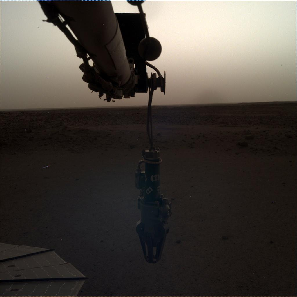 Nasa's Mars lander InSight acquired this image using its Instrument Deployment Camera on Sol 93