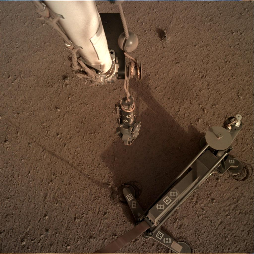 Nasa's Mars lander InSight acquired this image using its Instrument Deployment Camera on Sol 94