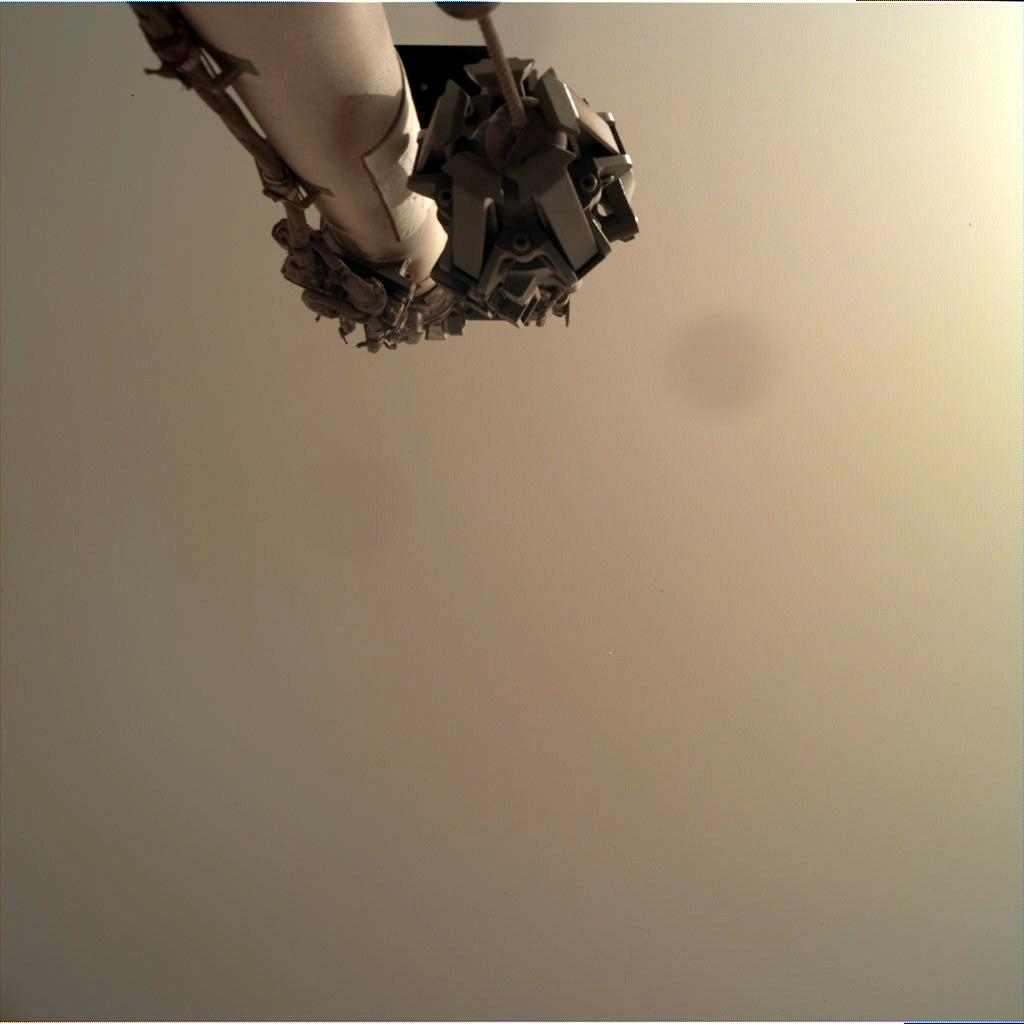 Nasa's Mars lander InSight acquired this image using its Instrument Deployment Camera on Sol 95