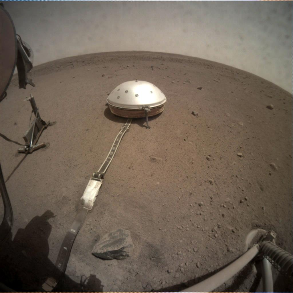 Nasa's Mars lander InSight acquired this image using its Instrument Context Camera on Sol 96