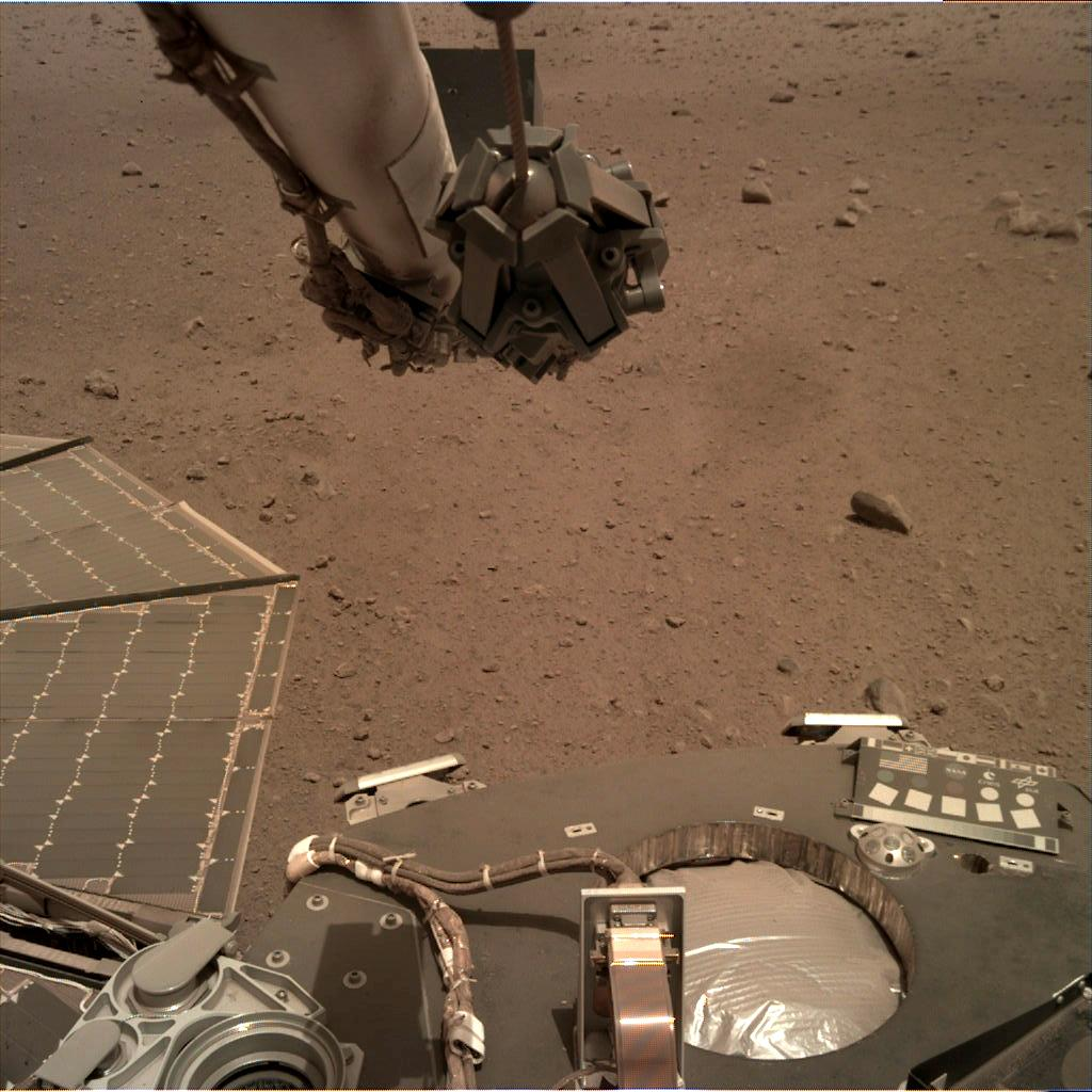 Nasa's Mars lander InSight acquired this image using its Instrument Deployment Camera on Sol 97