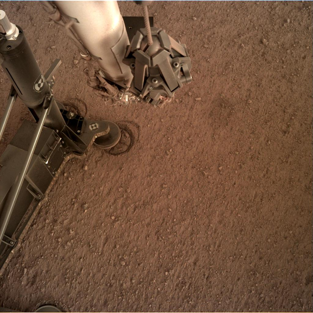 Nasa's Mars lander InSight acquired this image using its Instrument Deployment Camera on Sol 98