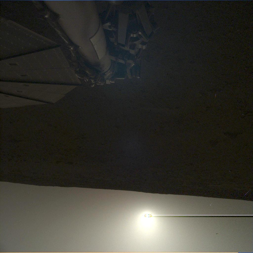 Nasa's Mars lander InSight acquired this image using its Instrument Deployment Camera on Sol 101