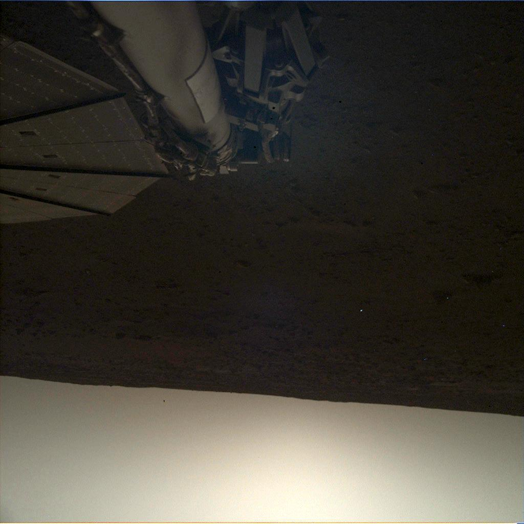Nasa's Mars lander InSight acquired this image using its Instrument Deployment Camera on Sol 102