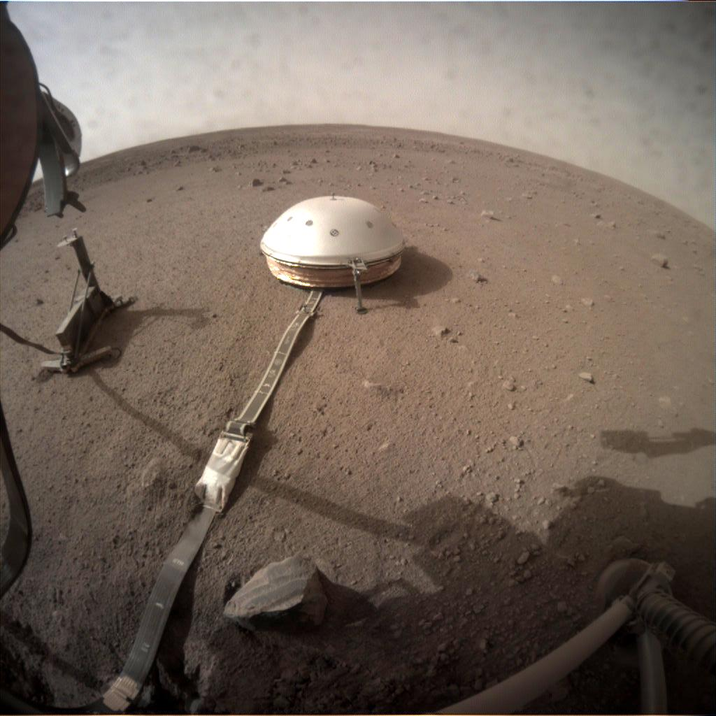 Nasa's Mars lander InSight acquired this image using its Instrument Context Camera on Sol 103