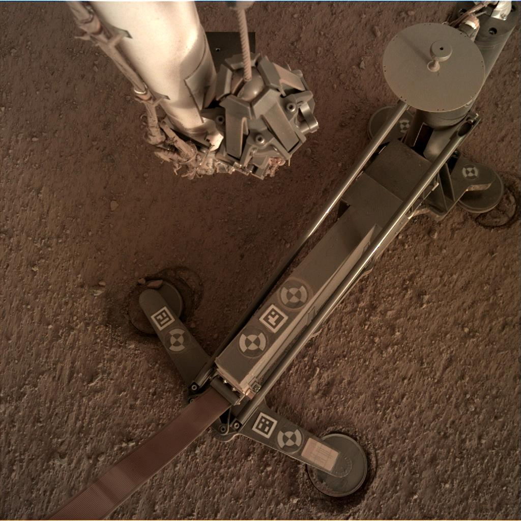 Nasa's Mars lander InSight acquired this image using its Instrument Deployment Camera on Sol 103