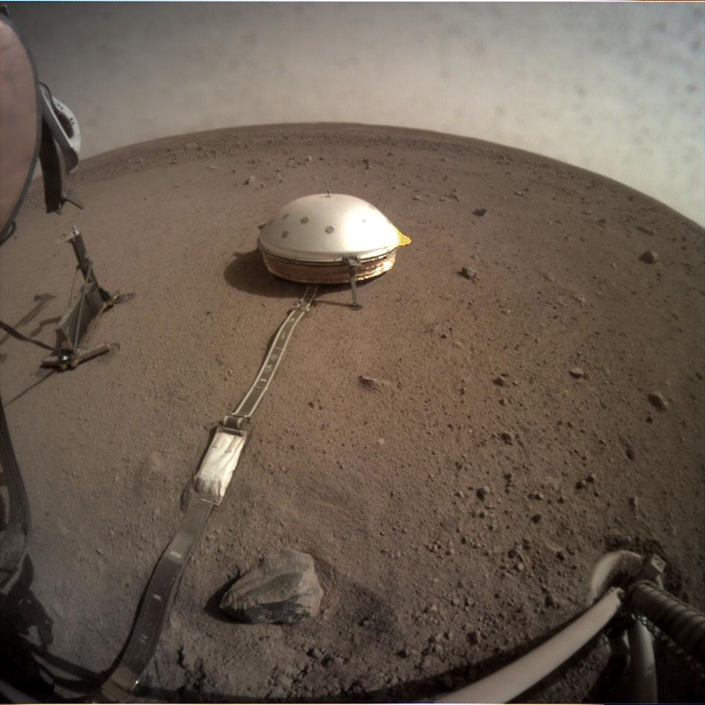 Nasa's Mars lander InSight acquired this image using its Instrument Context Camera on Sol 107
