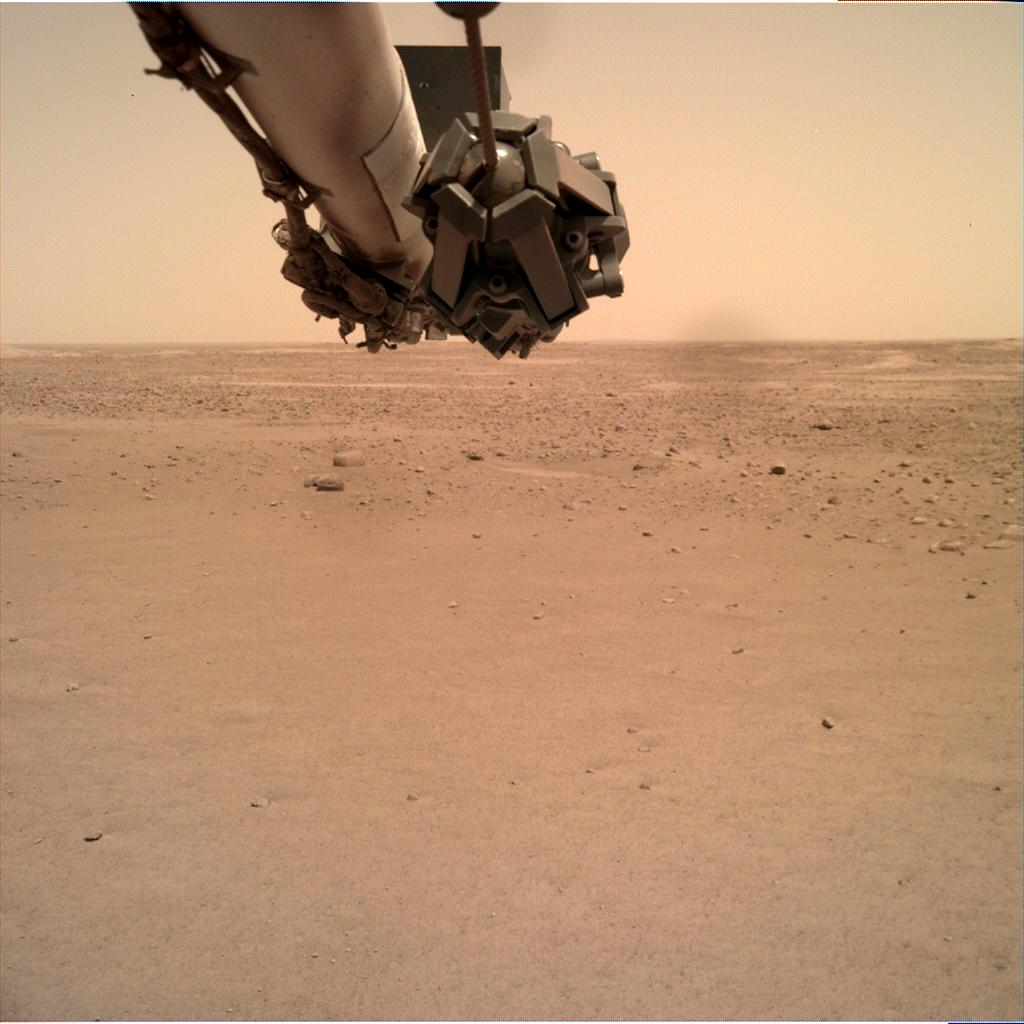 Nasa's Mars lander InSight acquired this image using its Instrument Deployment Camera on Sol 108
