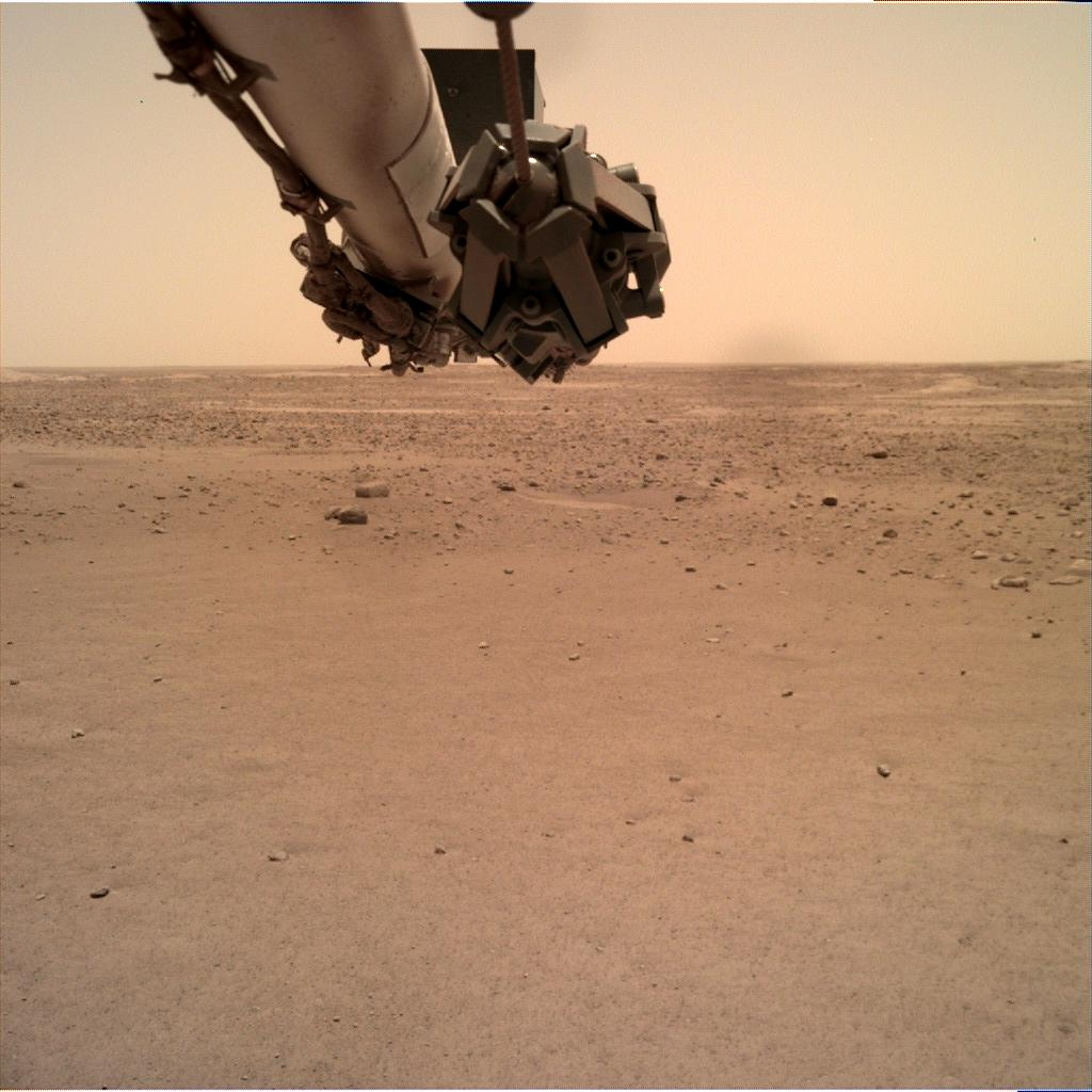 Nasa's Mars lander InSight acquired this image using its Instrument Deployment Camera on Sol 109