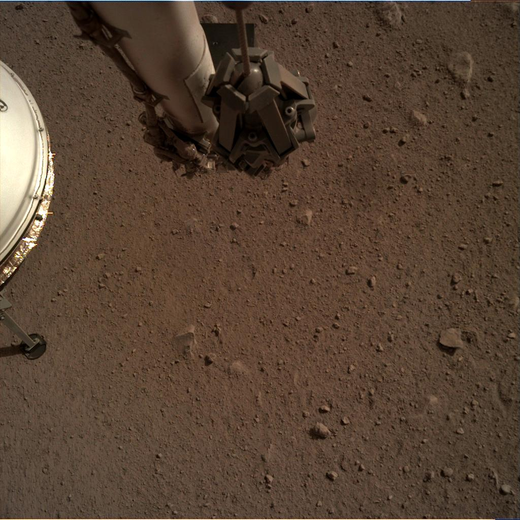Nasa's Mars lander InSight acquired this image using its Instrument Deployment Camera on Sol 110