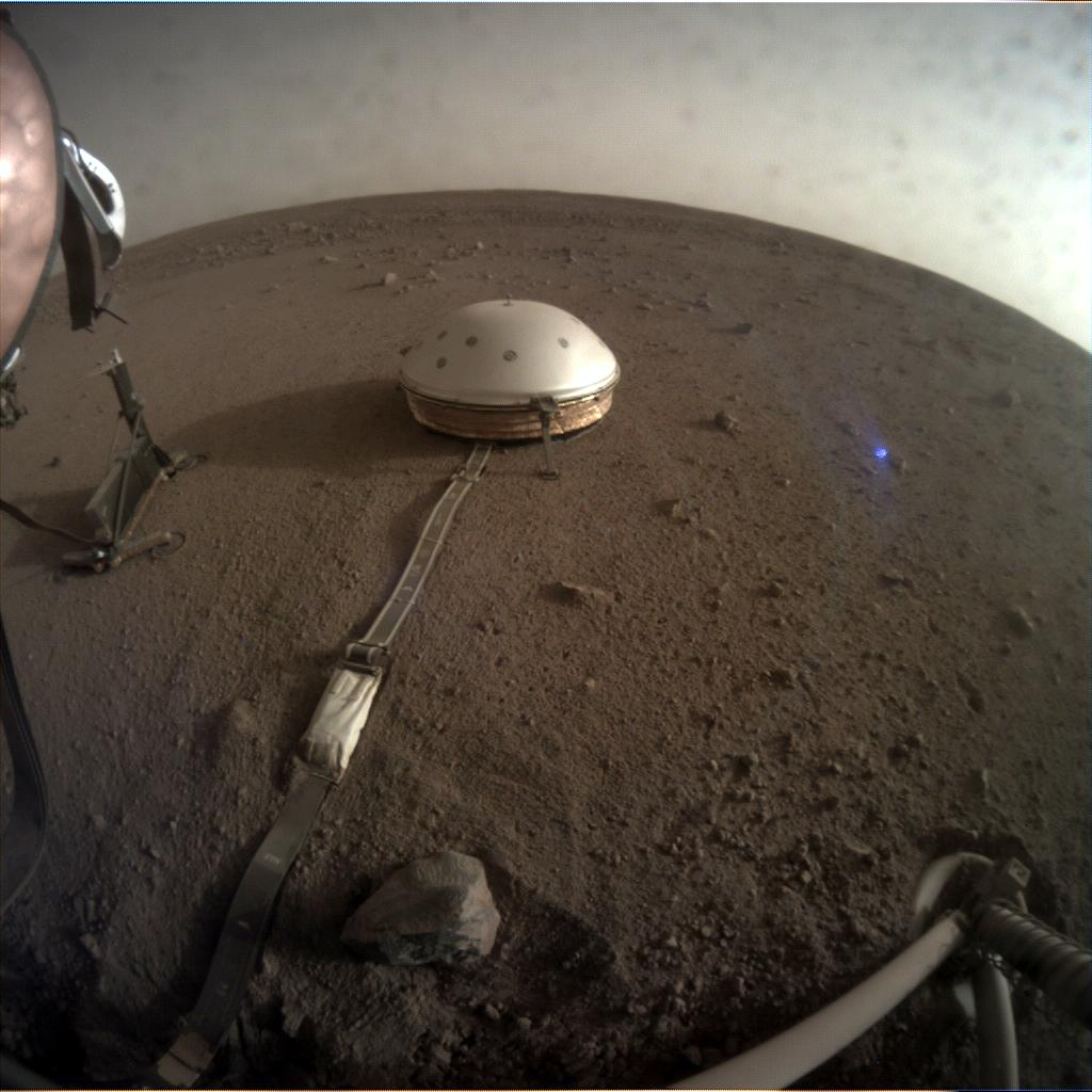 Nasa's Mars lander InSight acquired this image using its Instrument Context Camera on Sol 111