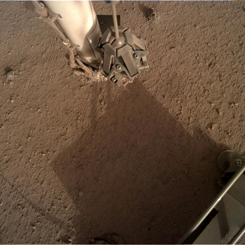Nasa's Mars lander InSight acquired this image using its Instrument Deployment Camera on Sol 111