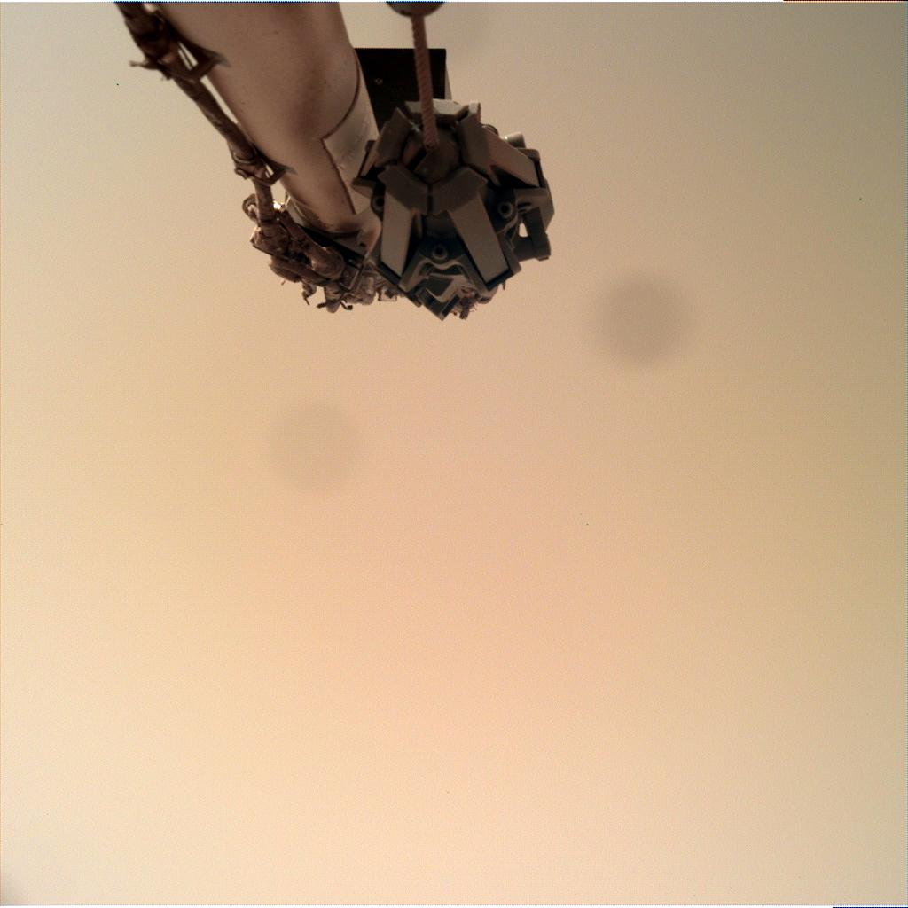 Nasa's Mars lander InSight acquired this image using its Instrument Deployment Camera on Sol 112