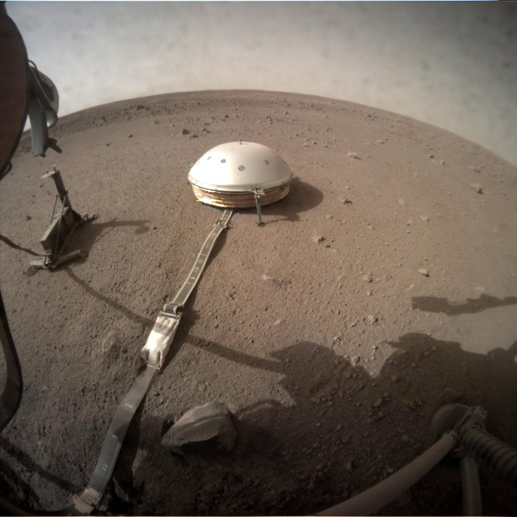 Nasa's Mars lander InSight acquired this image using its Instrument Context Camera on Sol 117