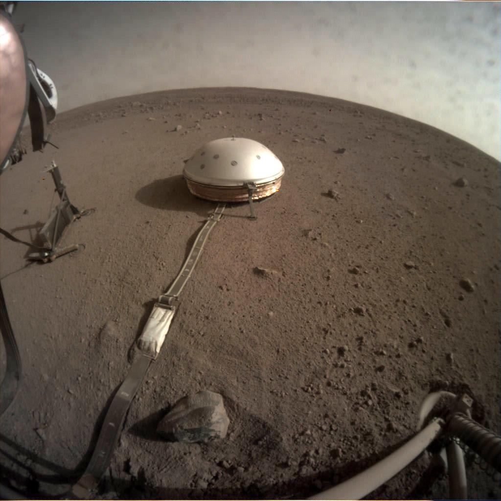 Nasa's Mars lander InSight acquired this image using its Instrument Context Camera on Sol 118
