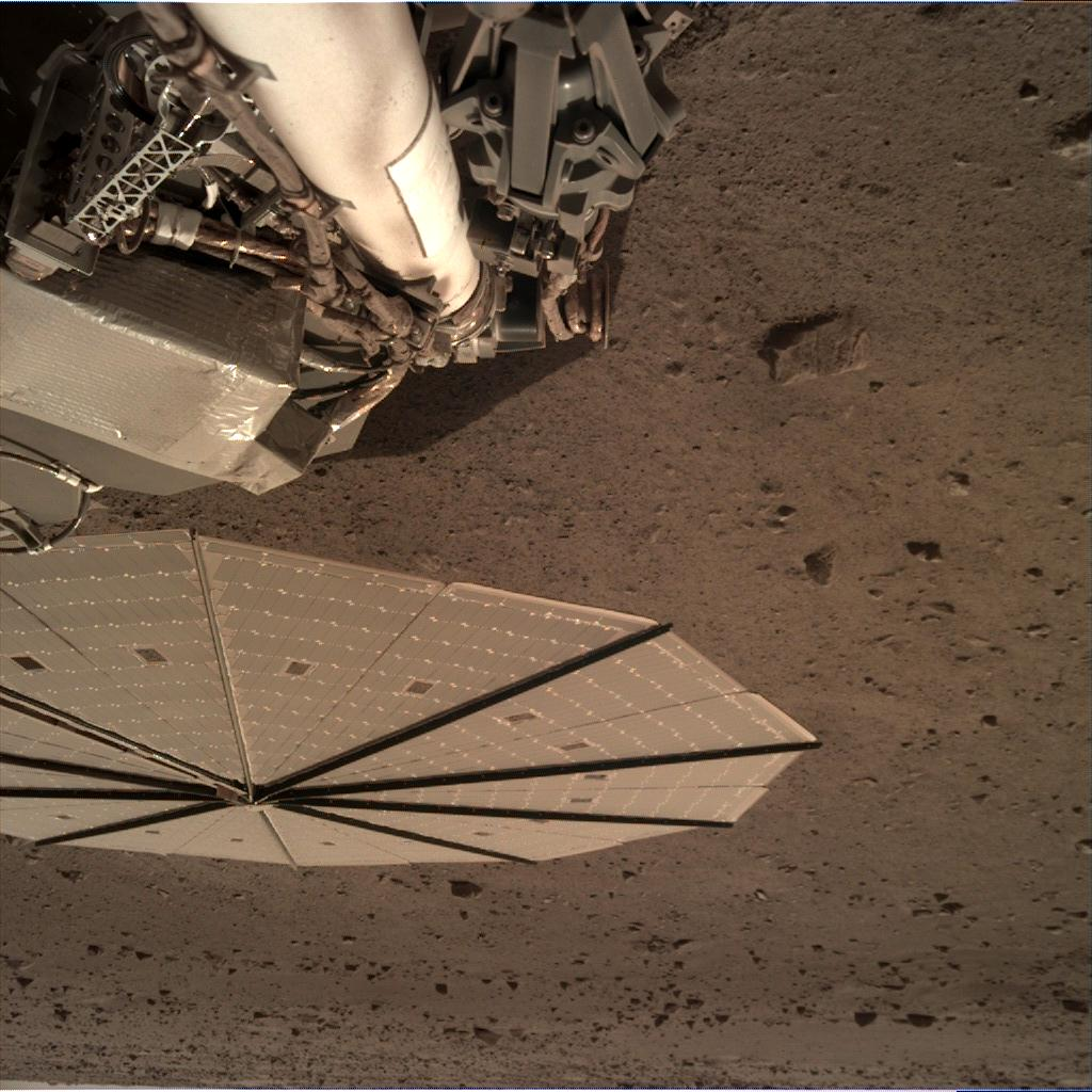 Nasa's Mars lander InSight acquired this image using its Instrument Deployment Camera on Sol 119