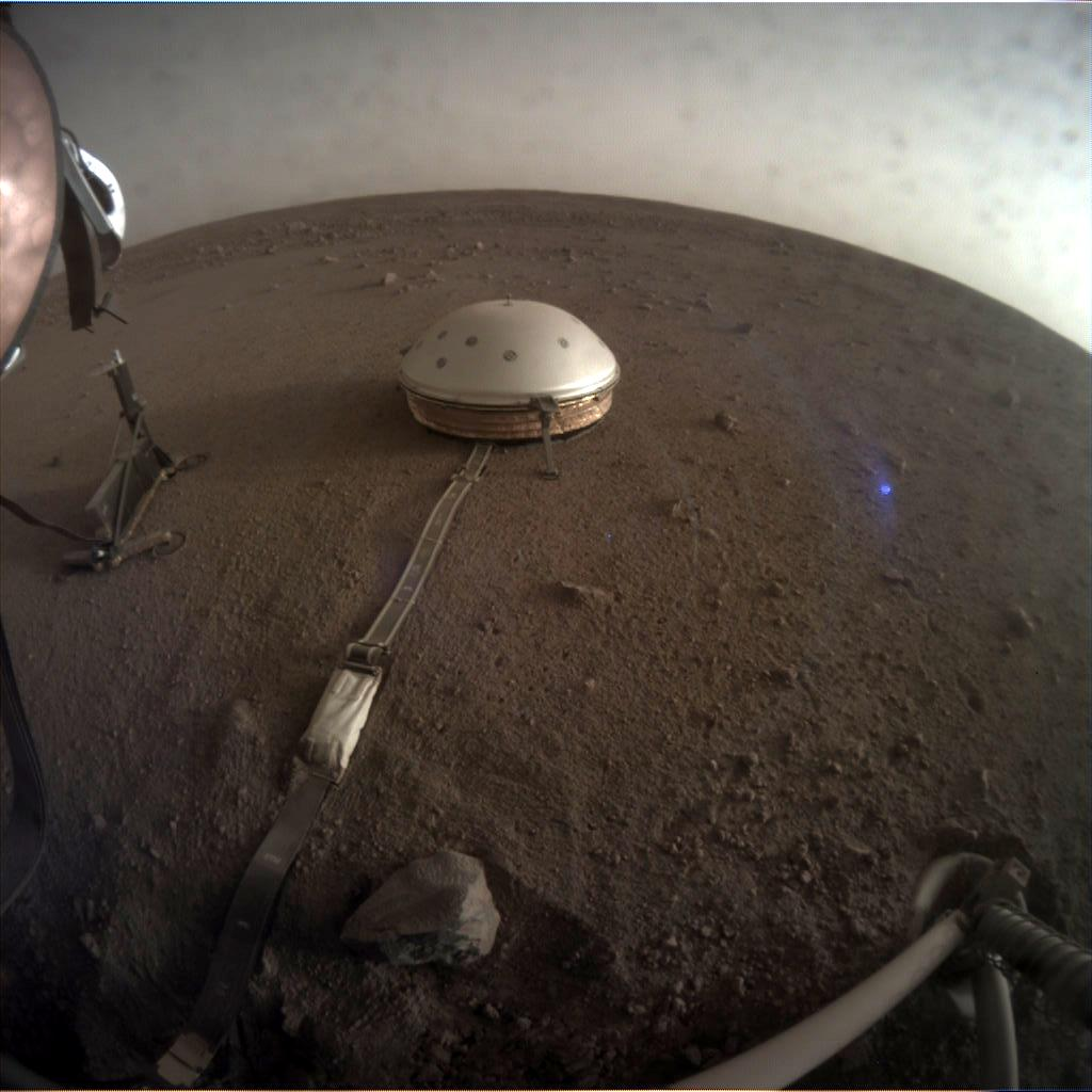 Nasa's Mars lander InSight acquired this image using its Instrument Context Camera on Sol 120