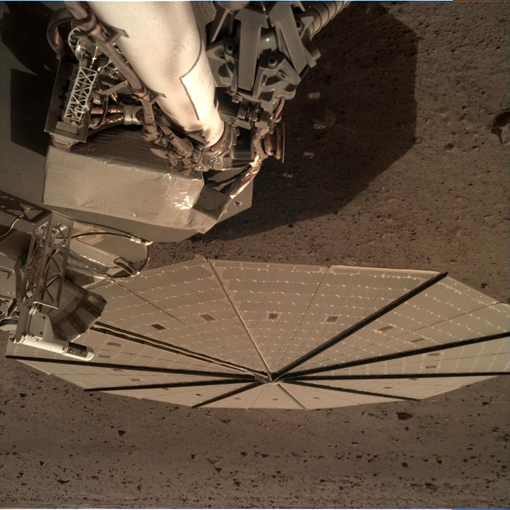 Nasa's Mars lander InSight acquired this image using its Instrument Deployment Camera on Sol 121