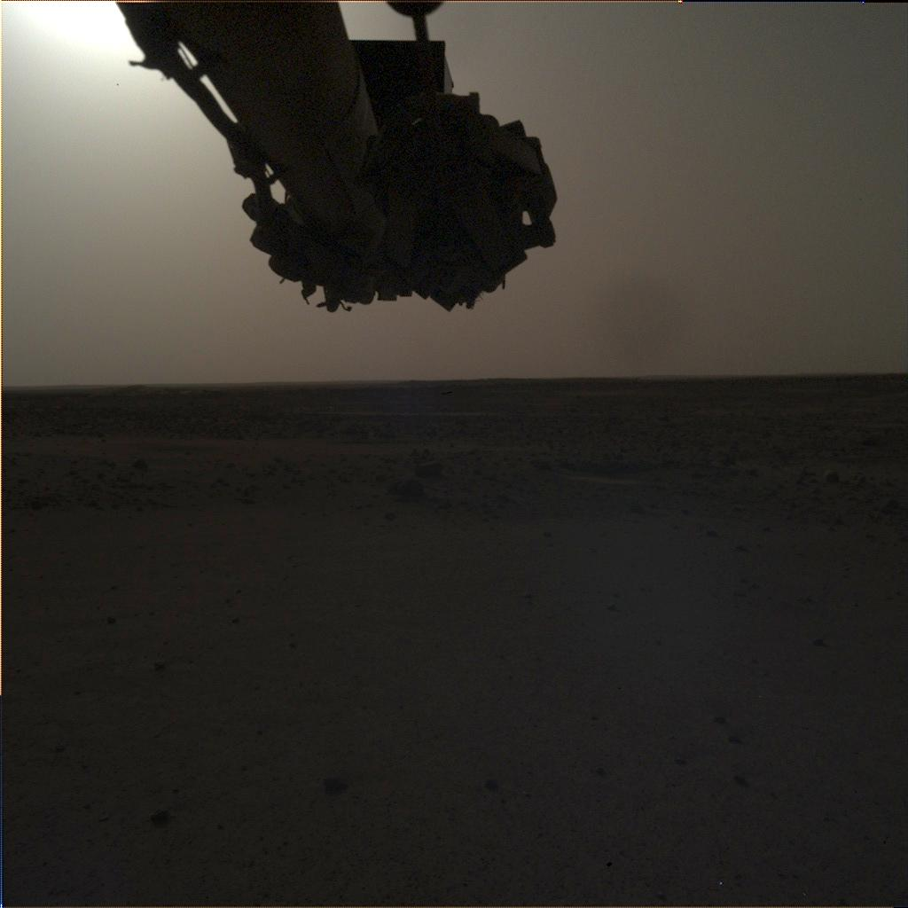 Nasa's Mars lander InSight acquired this image using its Instrument Deployment Camera on Sol 122