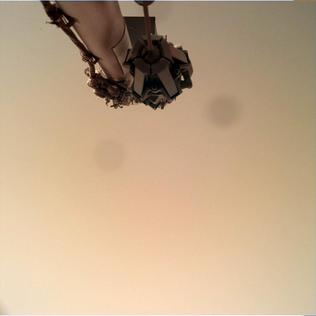 Nasa's Mars lander InSight acquired this image using its Instrument Deployment Camera on Sol 124