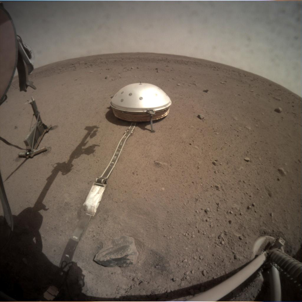 Nasa's Mars lander InSight acquired this image using its Instrument Context Camera on Sol 126