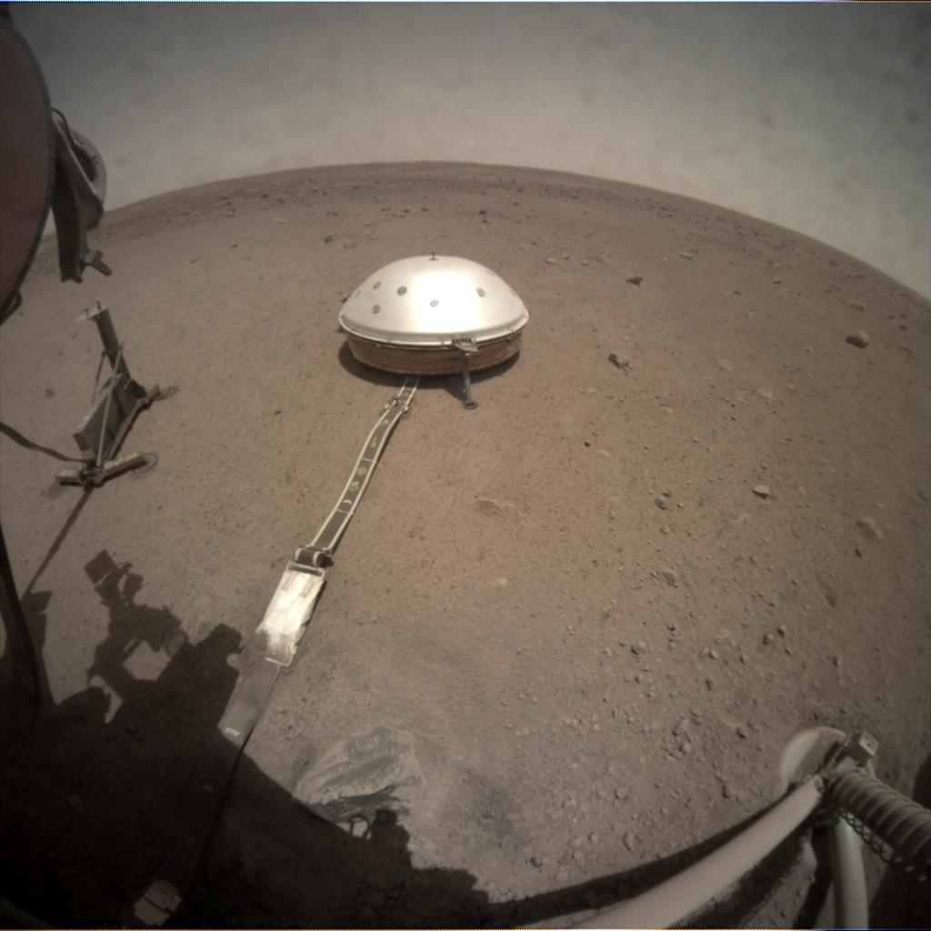 Nasa's Mars lander InSight acquired this image using its Instrument Context Camera on Sol 132
