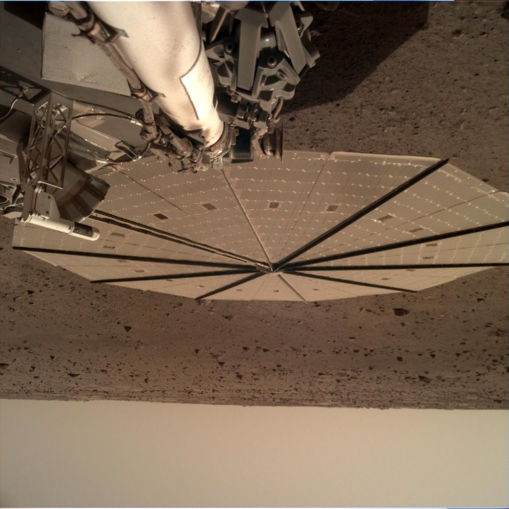 Nasa's Mars lander InSight acquired this image using its Instrument Deployment Camera on Sol 133