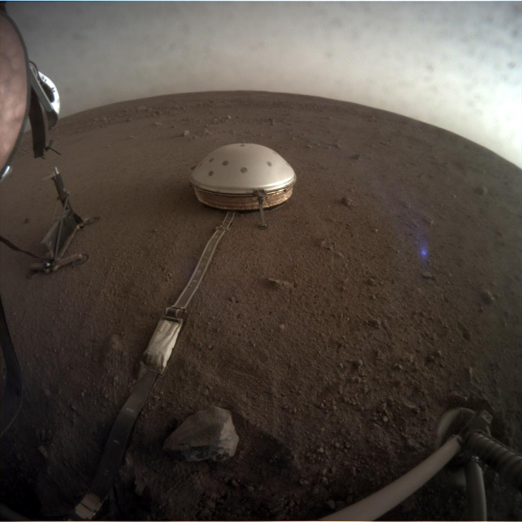 Nasa's Mars lander InSight acquired this image using its Instrument Context Camera on Sol 134