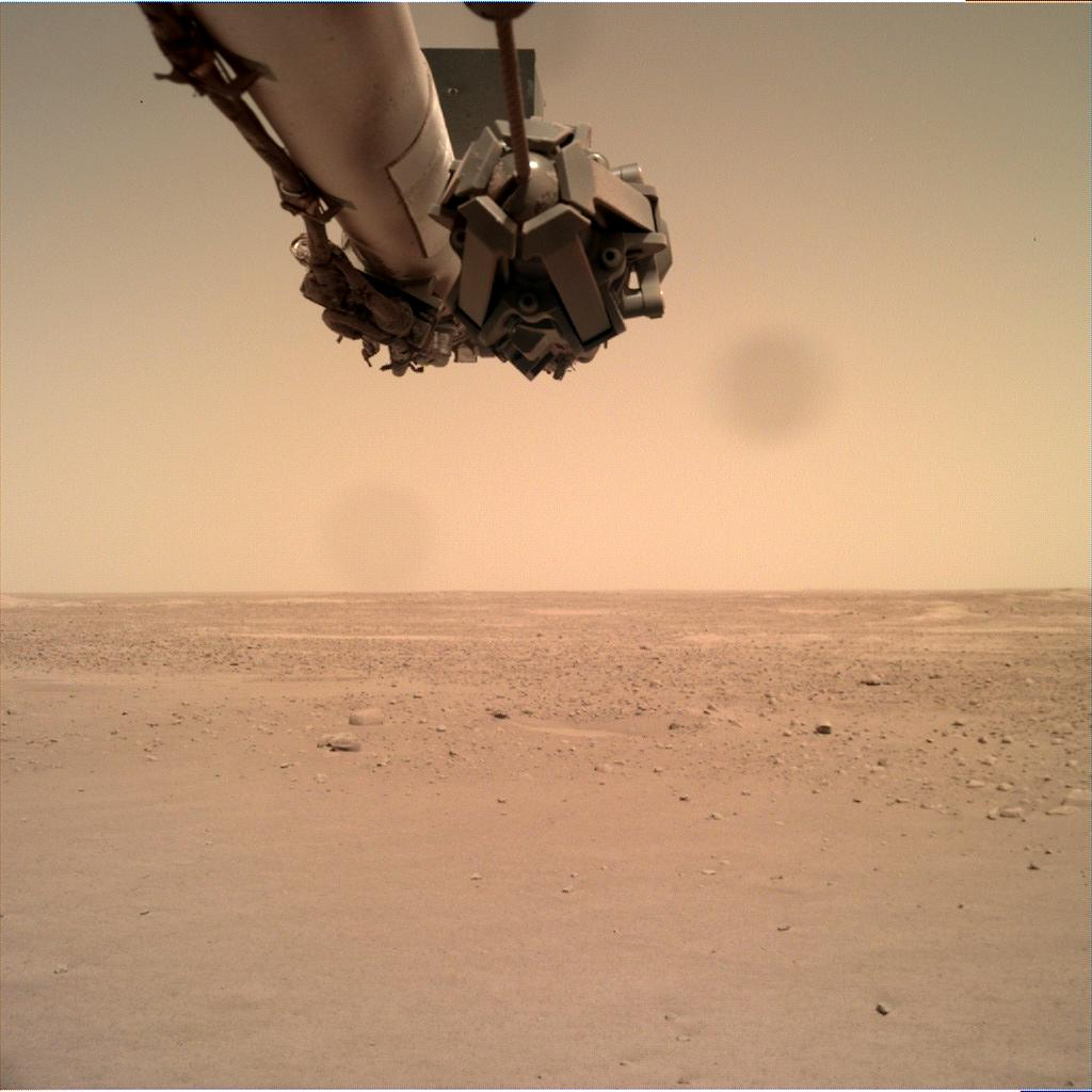 Nasa's Mars lander InSight acquired this image using its Instrument Deployment Camera on Sol 138